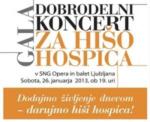 Dobrodelni koncert za hišo hospica