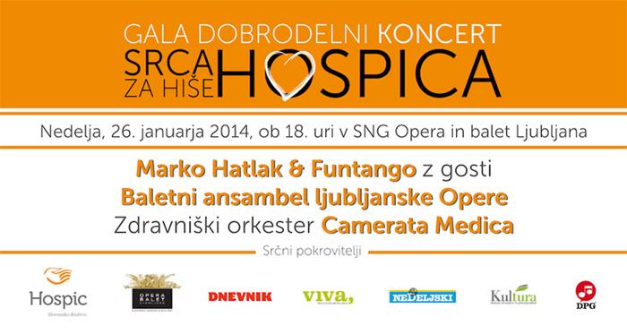 Gala dobrodelni koncert Srca za hiše hospica